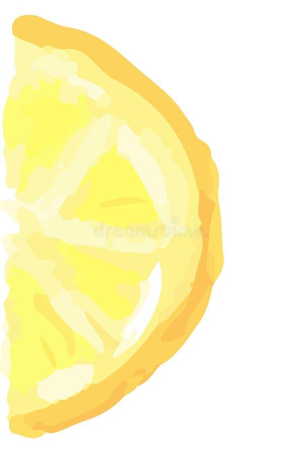 Metade da fatia de limão Projeto tirado mão do verão para o logotipo, a venda, a bandeira e os fundos imagem de stock royalty free