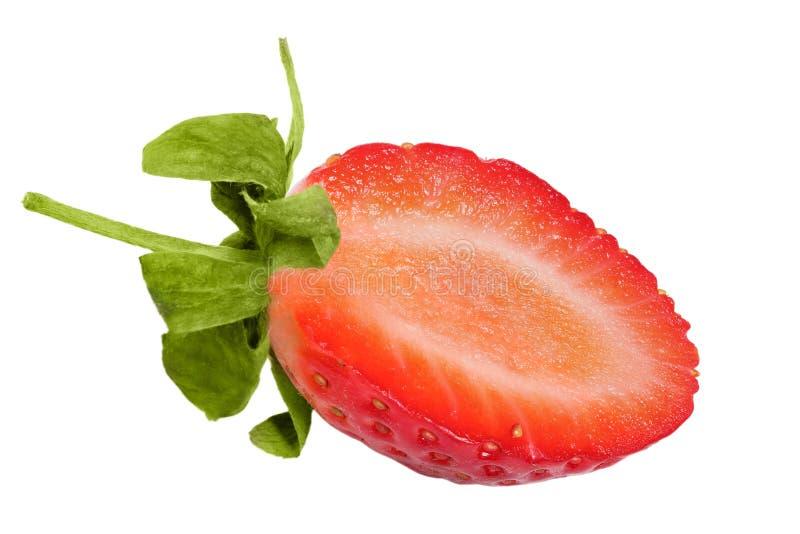 Metade da morango. foto de stock