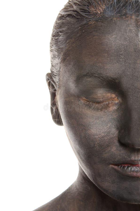 Metade das mulheres na composição preta branca fotografia de stock royalty free