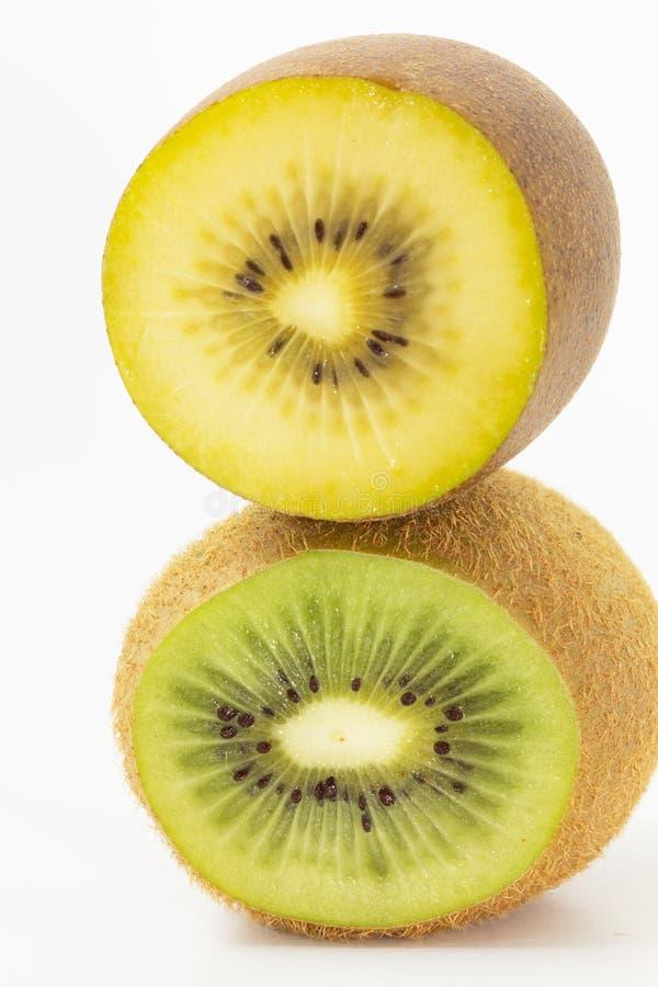 Metade de Kiwi Fruit fotografia de stock