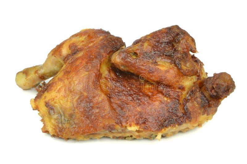 Metade de uma galinha grelhada imagens de stock royalty free