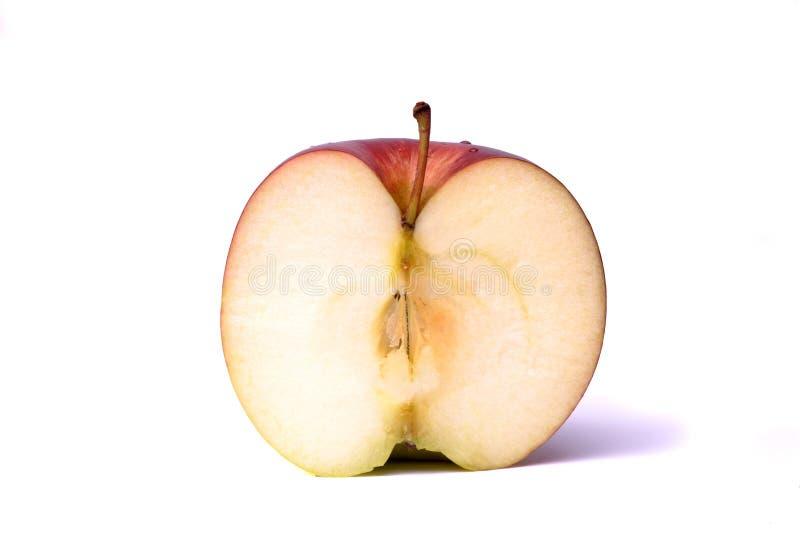 Metade de uma maçã imagem de stock