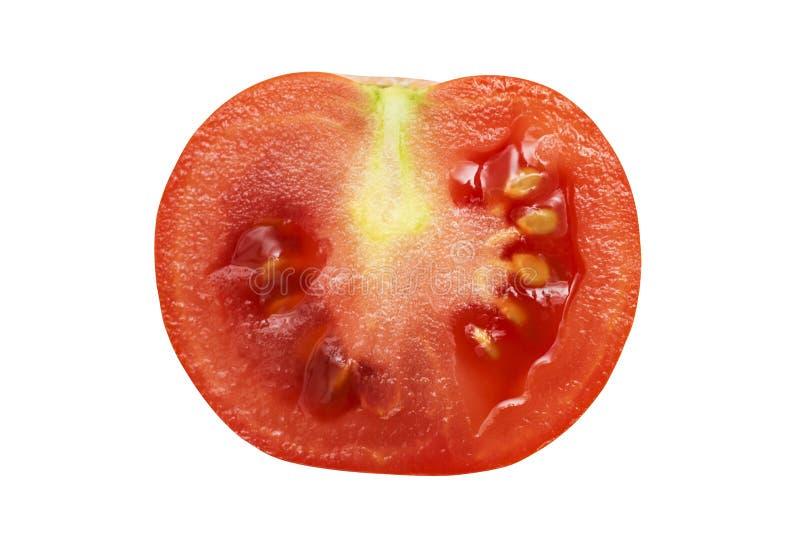 Metade do tomate Isolado no fundo branco Tomate vermelho em um fundo branco fotos de stock royalty free
