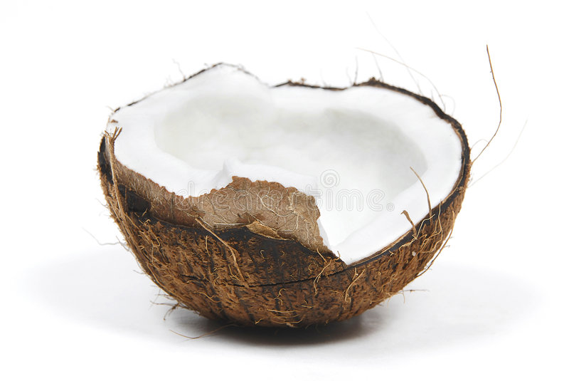 Metade dos Cocos imagens de stock royalty free