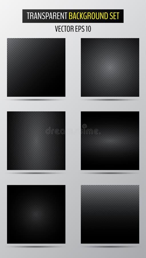 Metade escura dos fundos quadriculados transparentes ilustração stock