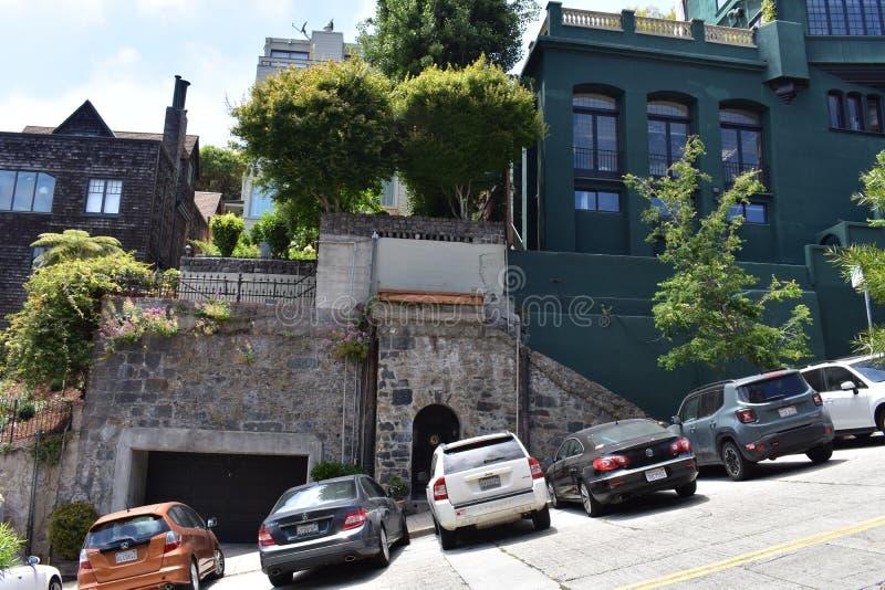 Metade histórica do ` s de San Francisco de uma casa fotos de stock royalty free