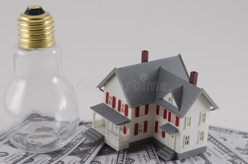 Metafoor van Energiekosten stock afbeeldingen