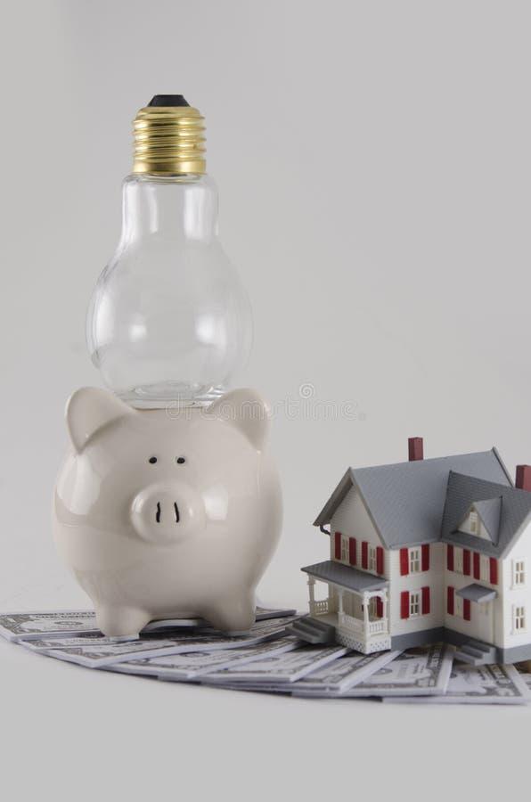 Metafoor van Energiekosten stock foto's