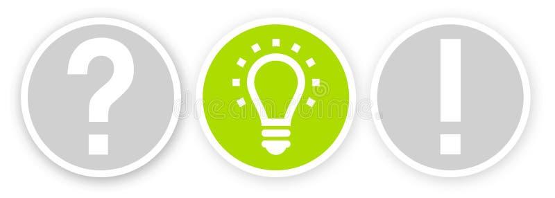 Metafor för ljus kula för inspirationbegrepp för bra idé royaltyfri illustrationer