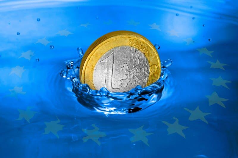 Metafora europea di crisi finanziaria. illustrazione vettoriale