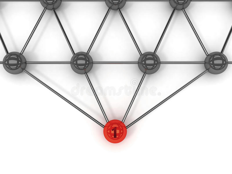 Metafora komunikacja. Czerwony lider w przodzie. ilustracja wektor