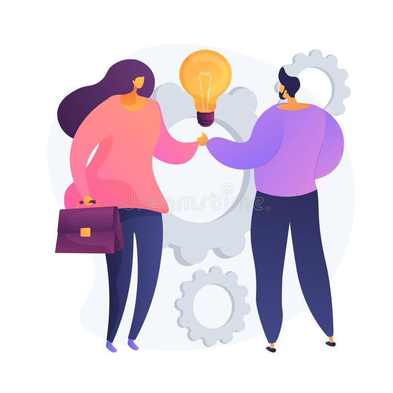 Metafora koncepcji wektora współpracy ilustracji