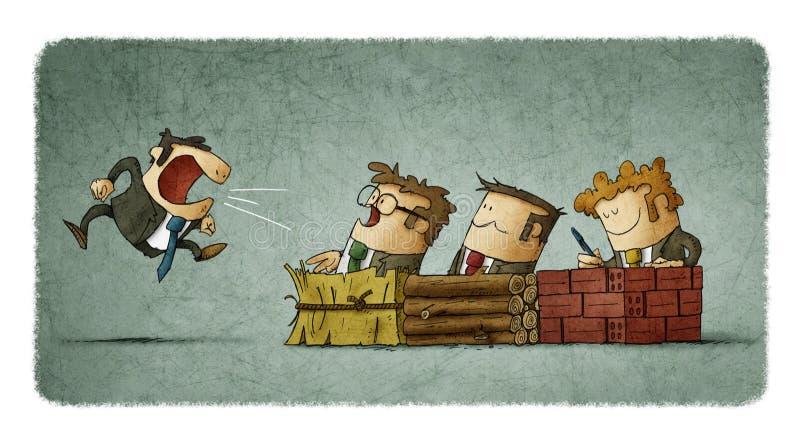 Metaforaffär royaltyfri illustrationer