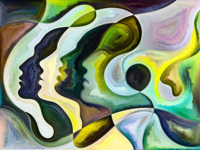 Metaforyczni Wewn?trzni kolory ilustracja wektor