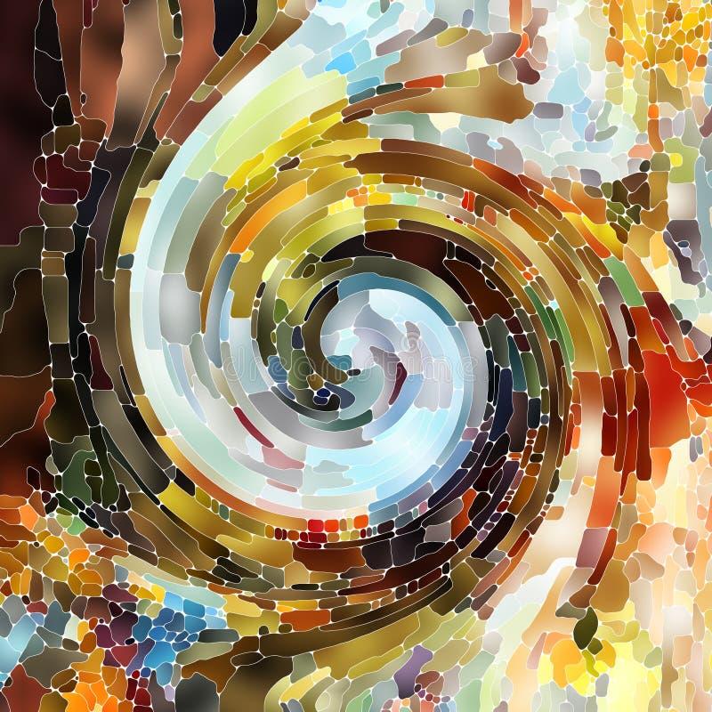 Metaforyczny Ślimakowaty kolor ilustracji