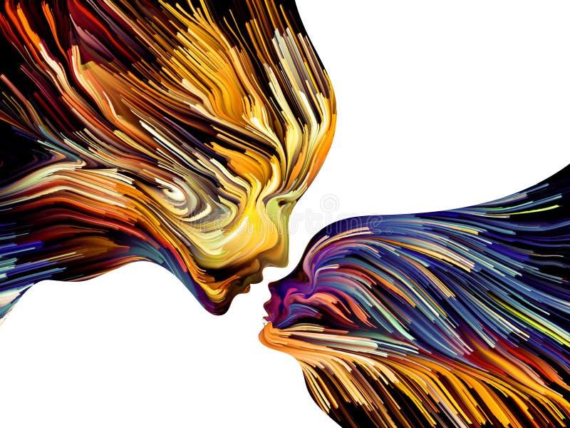 Metaforyczny umysłu Malować ilustracji