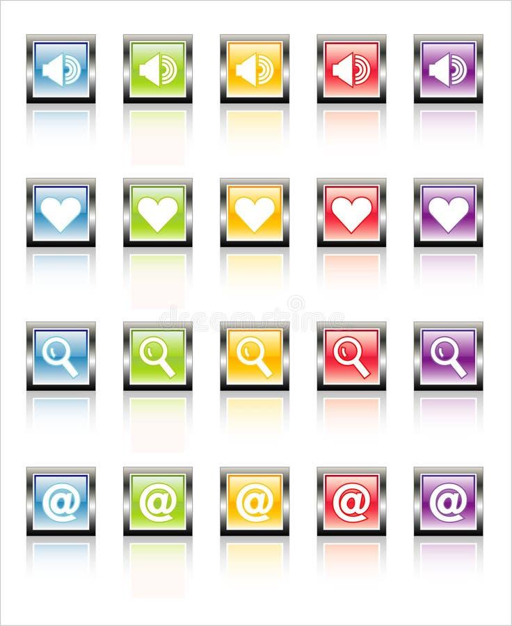 MetaGlass Icons Web 1 (Vector) stock photos