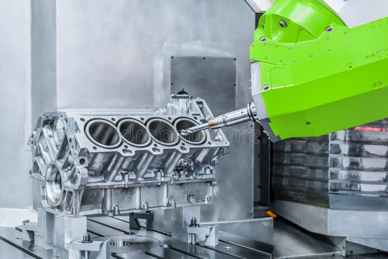 metalúrgico Proceso de alta precisión del torno del CNC fotografía de archivo