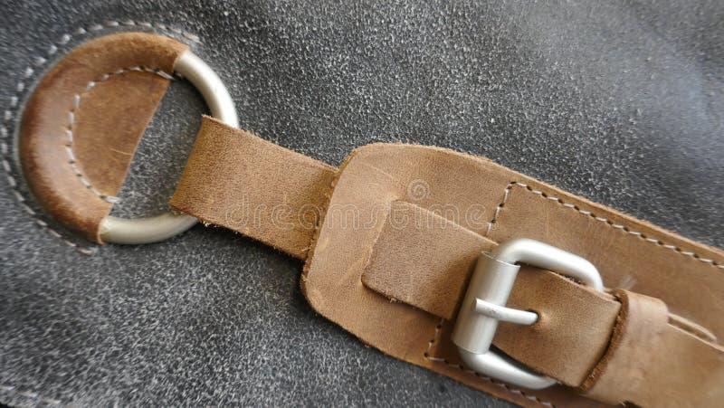 Metal закрытие кожаной сумки, конец-вверх стоковые изображения