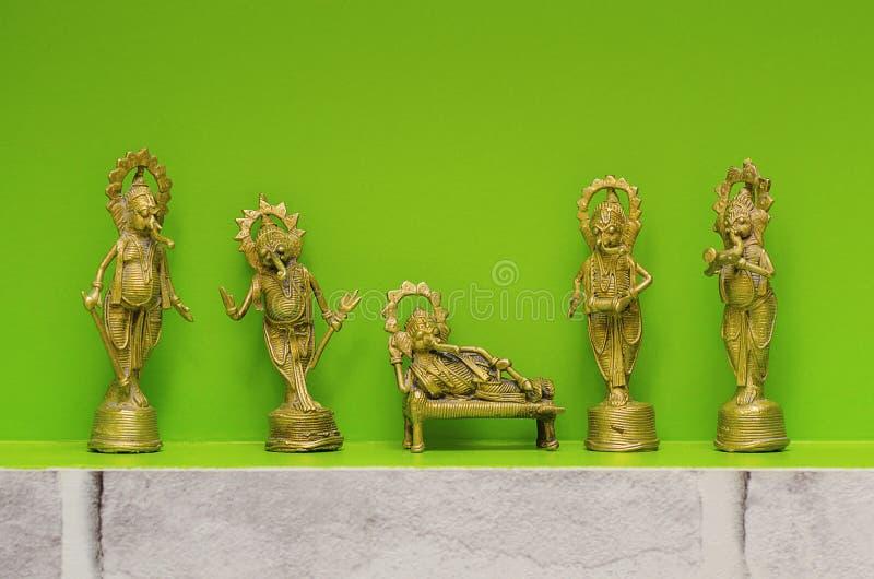 Metal идолы лорда Ganesha, также известные как Ganapati или Vinayaka стоковое фото