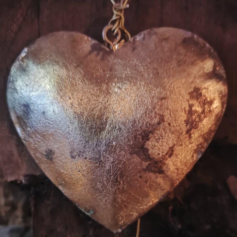 Metal сердце стоковые фото