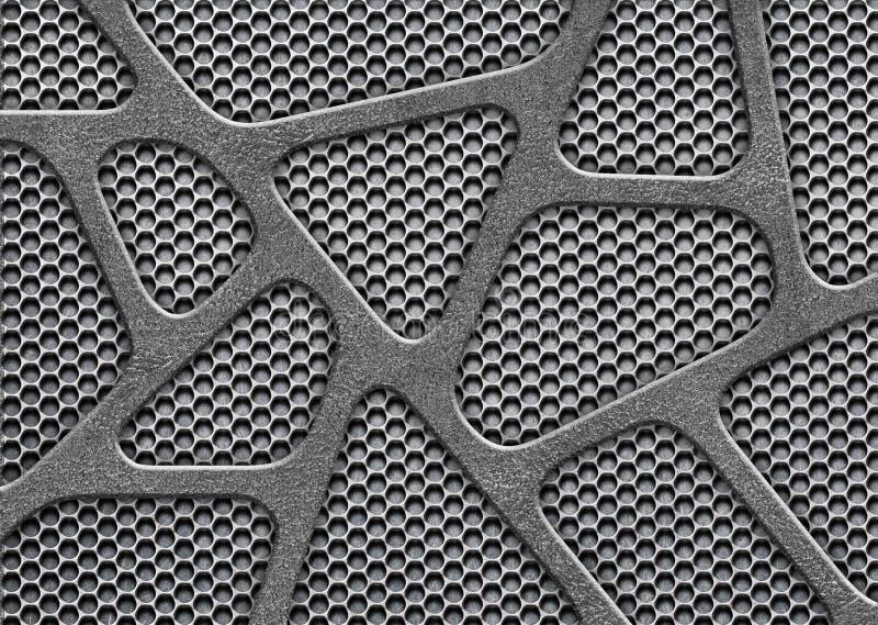 Metal сетка, пефорированная железная картина для предпосылки стоковое изображение