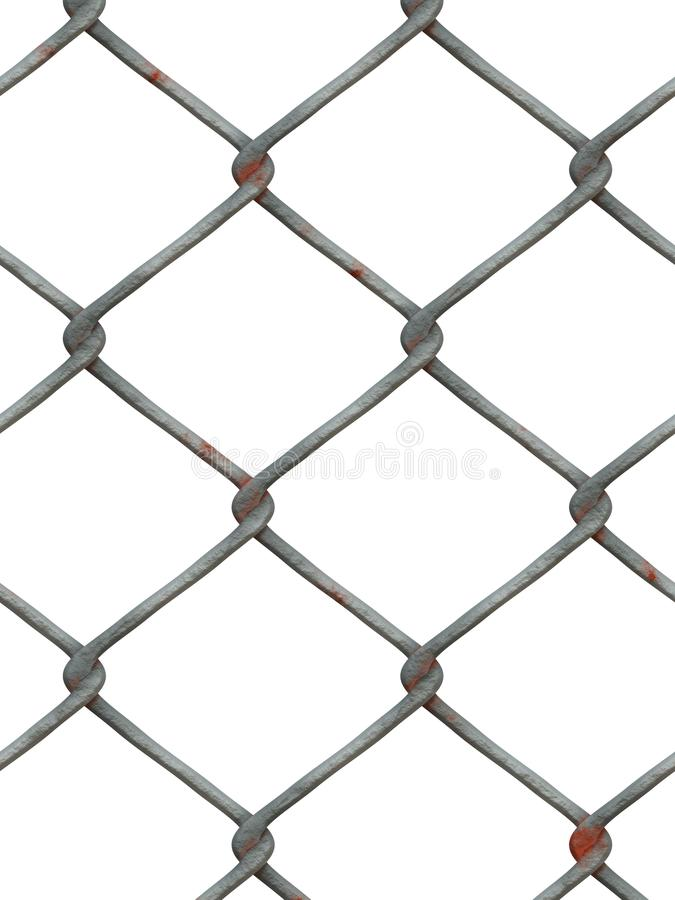 Metal сетчатые, переплетаннсяые провода металла на белой предпосылке Загородка металла стоковая фотография
