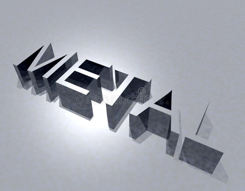 Metal ilustração stock