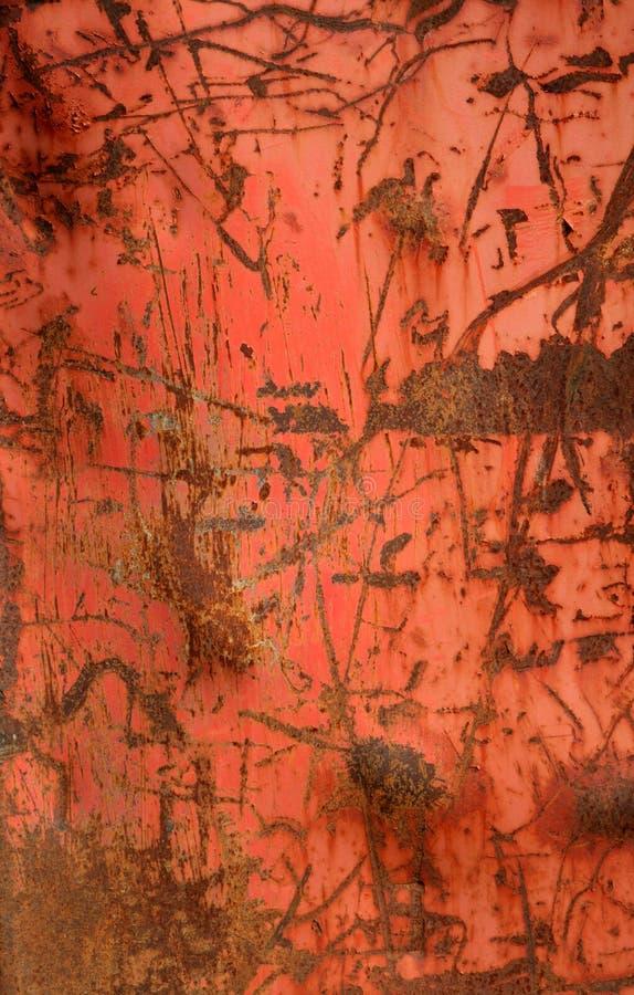 Metal aherrumbrado rojo sucio foto de archivo libre de regalías