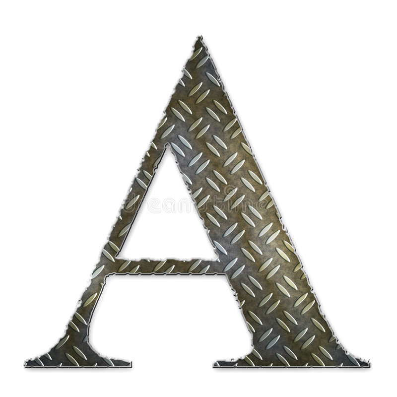 Metal alphabet symbol - A royalty free stock images