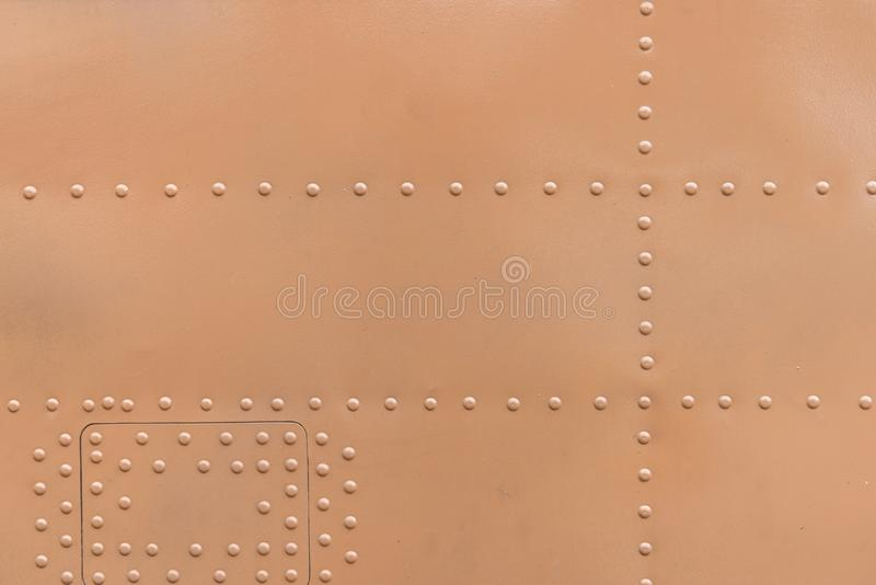 Metal aluminum surface of the aircraft fuselage texture.  royalty free stock image