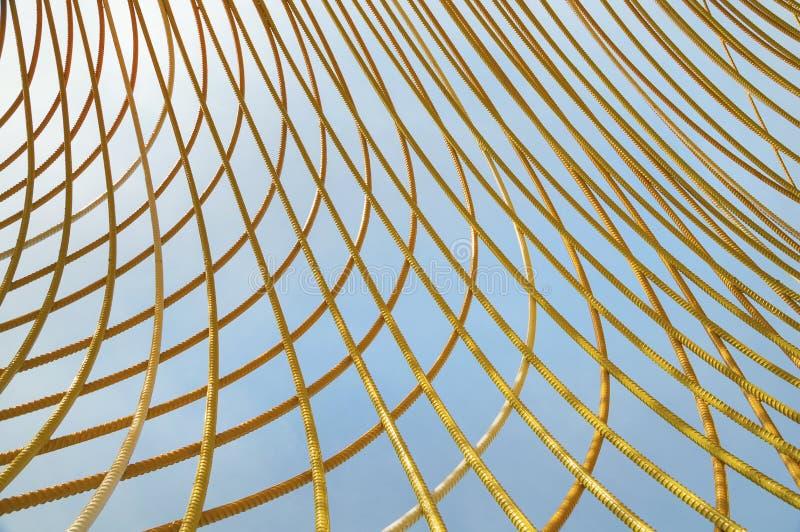 Metal amarelo Rod Abstract fotografia de stock royalty free
