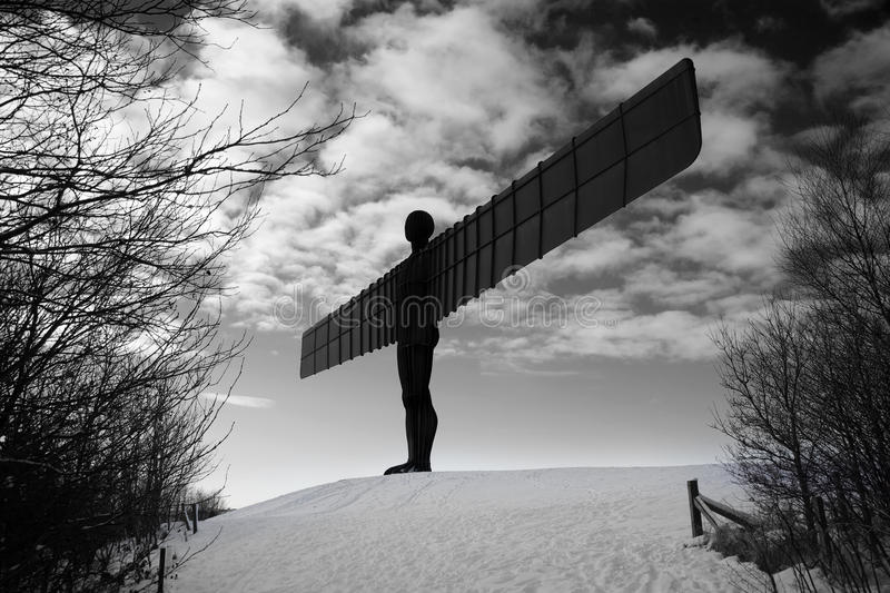Download Metal Angel in Winter stock image. Image of england, cold - 12493723