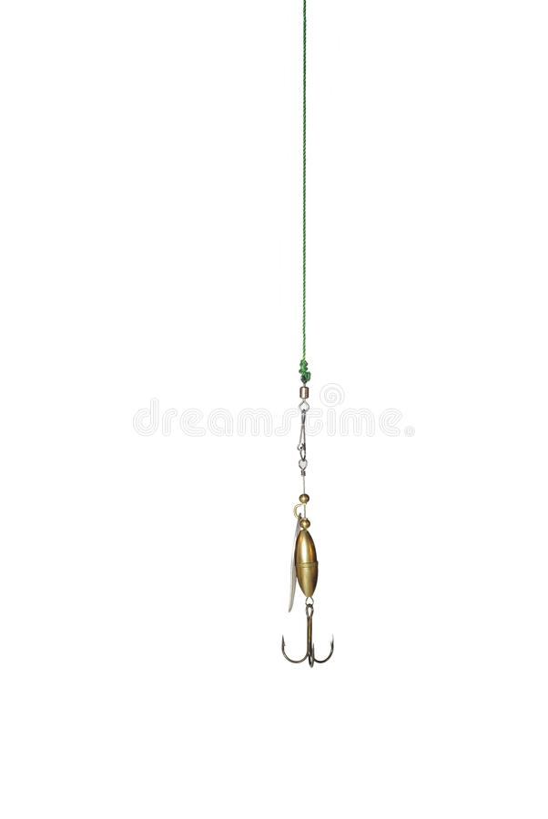 Metal angling bait stock images