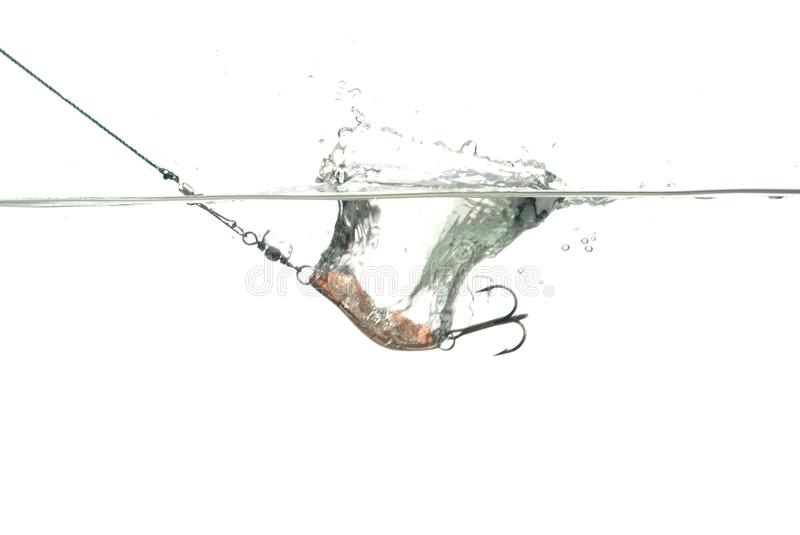 Metal Angling Baits Royalty Free Stock Images