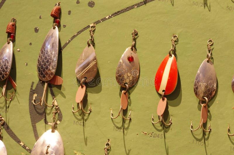 Metal angling baits royalty free stock image
