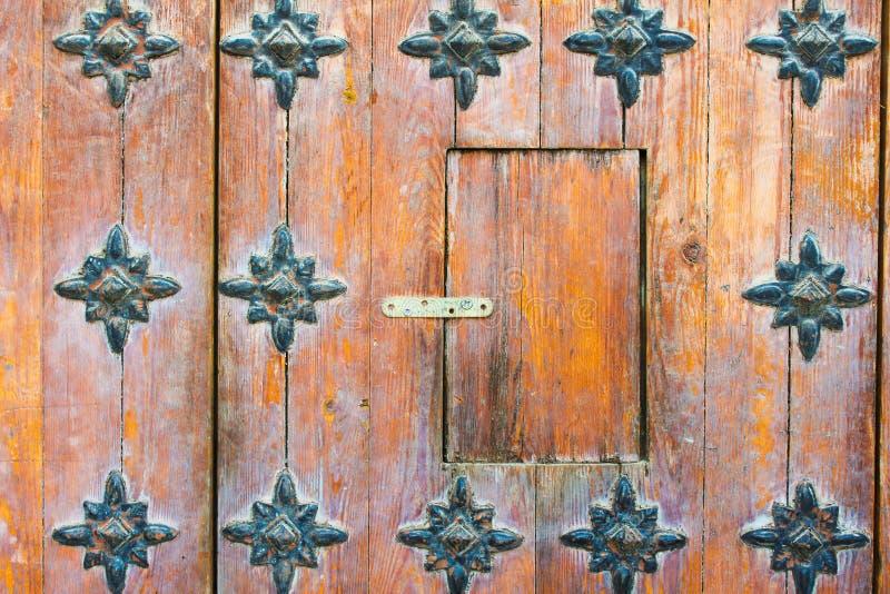 Metal antigo do indiano do detalhe da porta imagem de stock