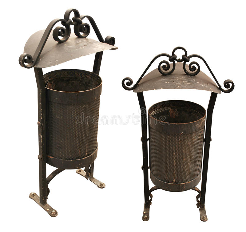 Download Metal Antique Trash Bin stock photo. Image of environment - 10342566