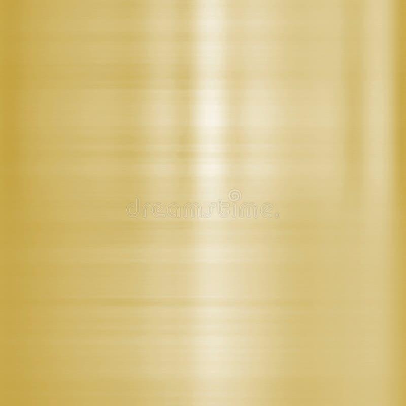 Metal aplicado con brocha multa del oro stock de ilustración