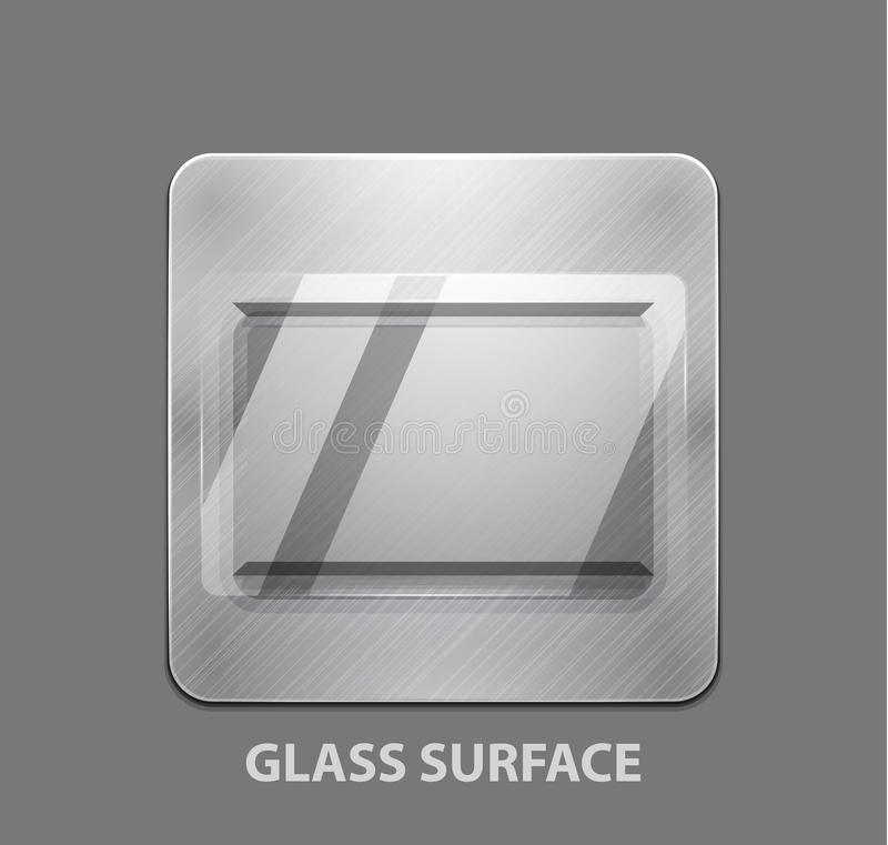 Download Metal App Button With Glass Surface Stock Vector - Illustration: 25655582