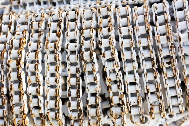 Metal artwork from used spare parts royalty free stock photos