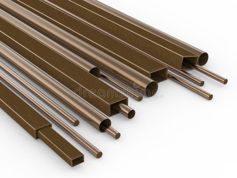 Metal as tubulações ilustração do vetor