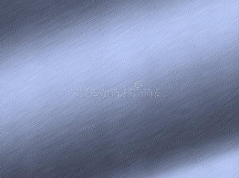 Metal azul escovado ilustração royalty free
