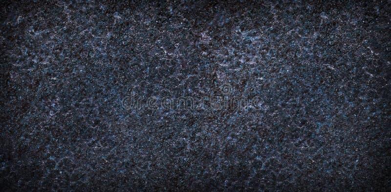 Metal azul vacío o textura superficial de piedra Panorama foto de archivo libre de regalías