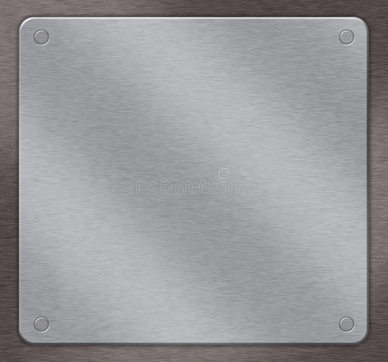 Metal background stock illustration