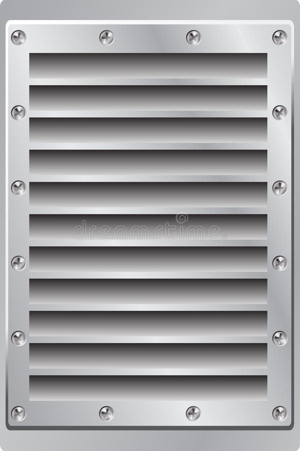 Metal Background Air Vent stock illustration