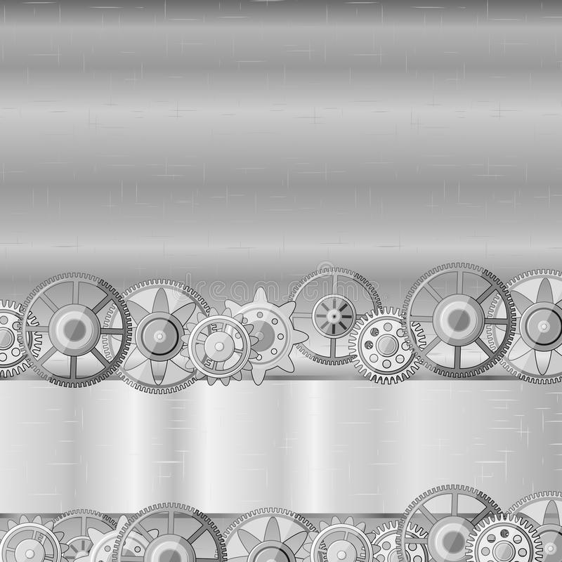 Download Metal Background With Gears Royalty Free Stock Photography - Image: 25996057