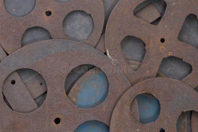 Metal. Background in many pattern style stock photos