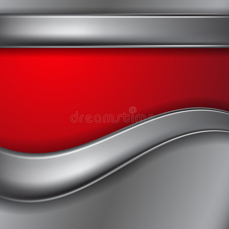 Metal background with place for text vector illustration