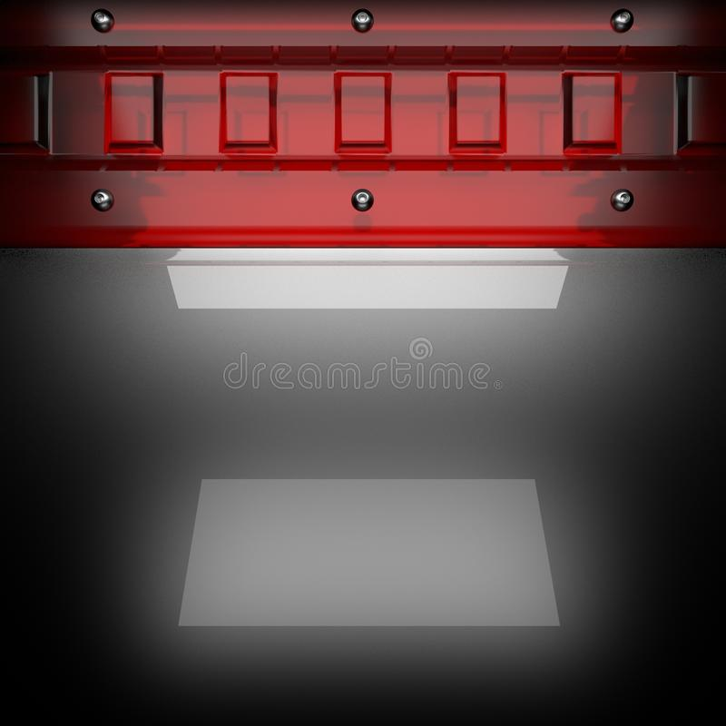 Metal background with red glass stock images